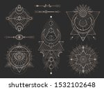 vector set of sacred geometric... | Shutterstock .eps vector #1532102648