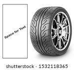 wheel with tire isolated on... | Shutterstock . vector #1532118365