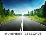road in deep forest | Shutterstock . vector #153212405