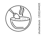 soup  spoon icon. simple line ...