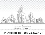 3d illustration architecture... | Shutterstock .eps vector #1532151242