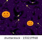 beautiful halloween seamless... | Shutterstock .eps vector #153219968