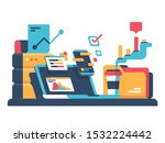 statistical data of diagram and ... | Shutterstock . vector #1532224442