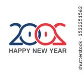 happy new year 2020 text design ...   Shutterstock .eps vector #1532251562