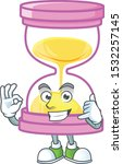 call me sandglass isolated with ... | Shutterstock .eps vector #1532257145