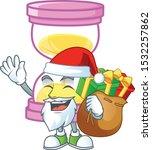 santa with gift sandglass... | Shutterstock .eps vector #1532257862