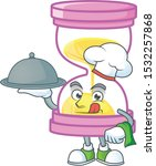 chef with food icon sandglass  | Shutterstock .eps vector #1532257868