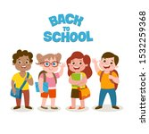 small group of students   vector   Shutterstock .eps vector #1532259368