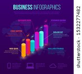 isometric business infographic...