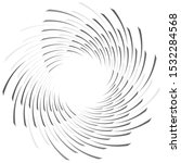 abstract spiral  twist. radial... | Shutterstock .eps vector #1532284568