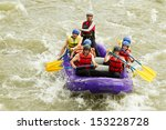 Raft Whitewater White Rapids...