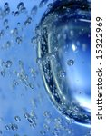 blue water with bubbles high... | Shutterstock . vector #15322969