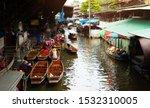 old damnoen saduak floating... | Shutterstock . vector #1532310005