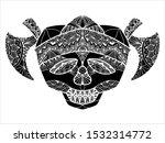 ornament skull pirates... | Shutterstock .eps vector #1532314772