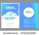 abstract vector modern flyers... | Shutterstock .eps vector #1532362565