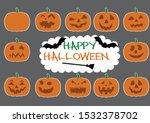 pumpkins for halloween kit....   Shutterstock .eps vector #1532378702