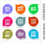 modern badges stickers and... | Shutterstock . vector #1532385452