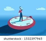 losing orientation. cartoon... | Shutterstock .eps vector #1532397965