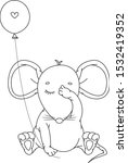 vector cute   sitting mouse... | Shutterstock .eps vector #1532419352