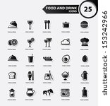 food and restaurant icons set... | Shutterstock .eps vector #153242966