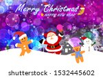 santa claus and friends... | Shutterstock . vector #1532445602