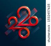 new year 2020. lettering design. | Shutterstock .eps vector #1532457635