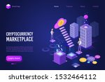 cryptocurrency marketplace... | Shutterstock .eps vector #1532464112