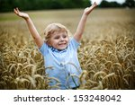 Happy Little Boy With Blond...
