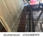 a loom is a device used to...   Shutterstock . vector #1532488595