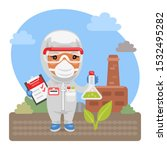 cartoon environmental scientist ...   Shutterstock .eps vector #1532495282