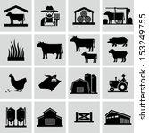 farming icons | Shutterstock .eps vector #153249755