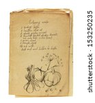 Old Recipe Book Isolated On...