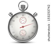 realistic classic stopwatch...   Shutterstock .eps vector #153253742