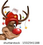 Reindeer With Stars And...