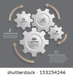 vector gear relationship  for... | Shutterstock .eps vector #153254246