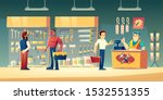 customers in tools store ... | Shutterstock .eps vector #1532551355
