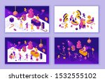 new year celebration landing... | Shutterstock .eps vector #1532555102