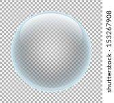 clear glass ball | Shutterstock .eps vector #153267908