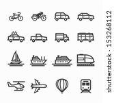transportation icons and... | Shutterstock .eps vector #153268112
