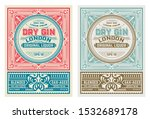 antique label with gin liquor... | Shutterstock .eps vector #1532689178