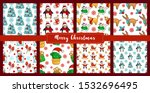 christmas seamless pattern  ... | Shutterstock .eps vector #1532696495