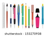 paint and writing tools... | Shutterstock .eps vector #153270938