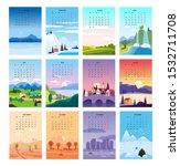 2020 calendar minimalistic... | Shutterstock .eps vector #1532711708