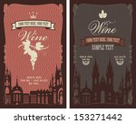 two labels for wine with the... | Shutterstock .eps vector #153271442