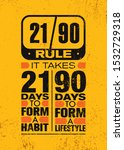 it takes 21 days to form a... | Shutterstock .eps vector #1532729318