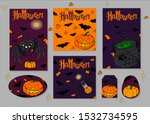 set of flyers for halloween.... | Shutterstock .eps vector #1532734595