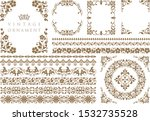 vintage ornament set. flourish... | Shutterstock .eps vector #1532735528