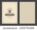 vintage ornament greeting card... | Shutterstock .eps vector #1532754308