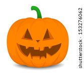 pumpkin with an evil expression ... | Shutterstock .eps vector #153276062