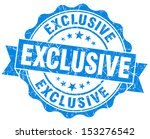 exclusive grunge blue stamp | Shutterstock . vector #153276542
